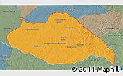 Political 3D Map of ARTIGAS, semi-desaturated