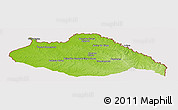 Physical Panoramic Map of ARTIGAS, cropped outside