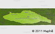 Physical Panoramic Map of ARTIGAS, darken