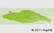 Physical Panoramic Map of ARTIGAS, lighten