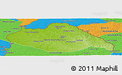 Physical Panoramic Map of ARTIGAS, political outside
