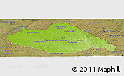 Physical Panoramic Map of ARTIGAS, satellite outside