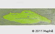 Physical Panoramic Map of ARTIGAS, semi-desaturated