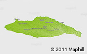 Physical Panoramic Map of ARTIGAS, single color outside