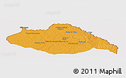 Political Panoramic Map of ARTIGAS, cropped outside