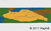 Political Panoramic Map of ARTIGAS, darken