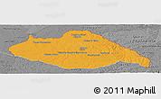 Political Panoramic Map of ARTIGAS, desaturated