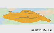 Political Panoramic Map of ARTIGAS, lighten