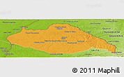 Political Panoramic Map of ARTIGAS, physical outside