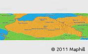 Political Panoramic Map of ARTIGAS
