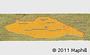 Political Panoramic Map of ARTIGAS, satellite outside