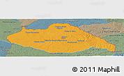 Political Panoramic Map of ARTIGAS, semi-desaturated