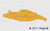 Political Panoramic Map of ARTIGAS, single color outside