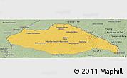Savanna Style Panoramic Map of ARTIGAS