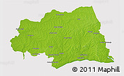 Physical 3D Map of CANELONES, cropped outside