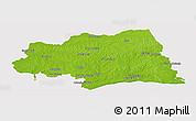 Physical Panoramic Map of CANELONES, cropped outside