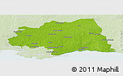 Physical Panoramic Map of CANELONES, lighten