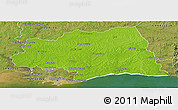 Physical Panoramic Map of CANELONES, satellite outside