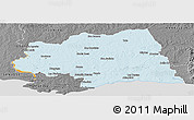Political Panoramic Map of CANELONES, desaturated