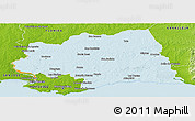 Political Panoramic Map of CANELONES, physical outside