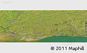 Satellite Panoramic Map of CANELONES
