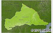 Physical 3D Map of CERRO LARGO, darken