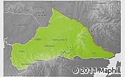Physical 3D Map of CERRO LARGO, desaturated
