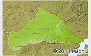 Physical 3D Map of CERRO LARGO, satellite outside
