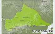 Physical 3D Map of CERRO LARGO, semi-desaturated
