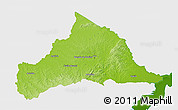 Physical 3D Map of CERRO LARGO, single color outside