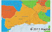Political 3D Map of CERRO LARGO