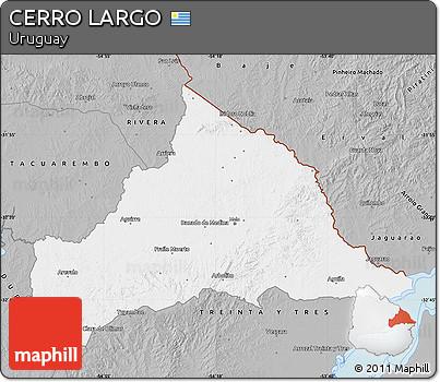 Gray Map of CERRO LARGO
