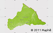 Physical Map of CERRO LARGO, cropped outside