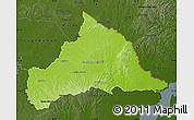 Physical Map of CERRO LARGO, darken