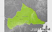 Physical Map of CERRO LARGO, desaturated