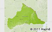 Physical Map of CERRO LARGO, lighten