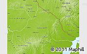 Physical Map of CERRO LARGO