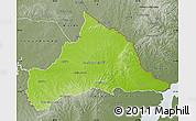Physical Map of CERRO LARGO, semi-desaturated