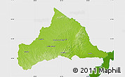 Physical Map of CERRO LARGO, single color outside