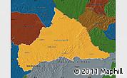Political Map of CERRO LARGO, darken