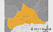 Political Map of CERRO LARGO, desaturated
