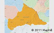 Political Map of CERRO LARGO, lighten