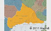 Political Map of CERRO LARGO, semi-desaturated