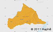 Political Map of CERRO LARGO, single color outside