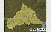 Satellite Map of CERRO LARGO, darken