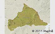 Satellite Map of CERRO LARGO, lighten