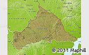 Satellite Map of CERRO LARGO, physical outside