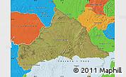 Satellite Map of CERRO LARGO, political outside