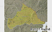 Satellite Map of CERRO LARGO, semi-desaturated