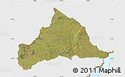 Satellite Map of CERRO LARGO, single color outside
